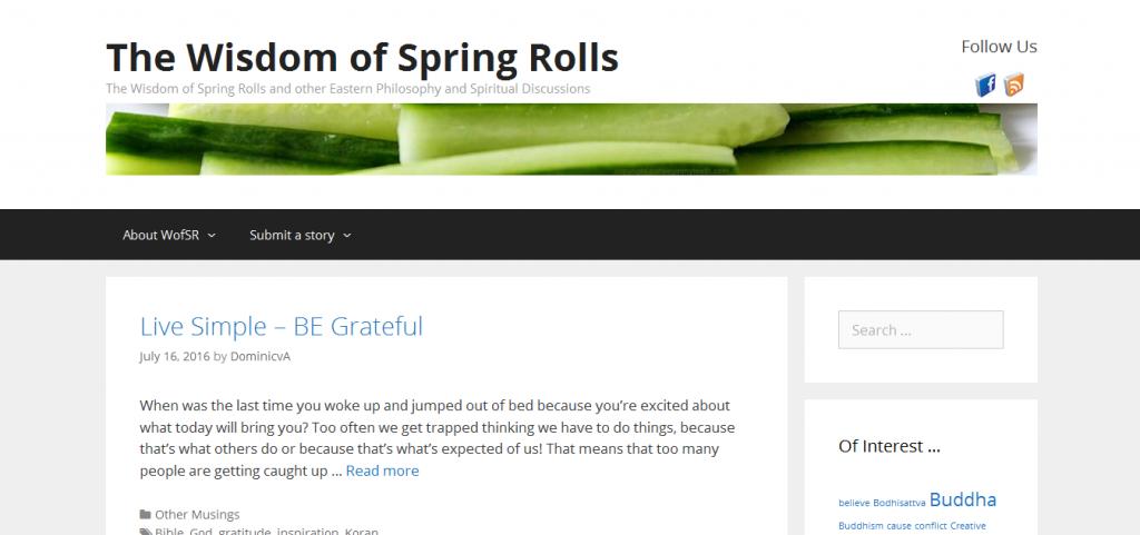 Portfolio - Wisdom of Springrolls